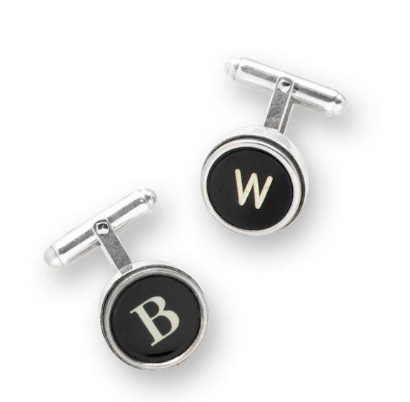 Silver Type Key Cufflink | Gifts For Guys
