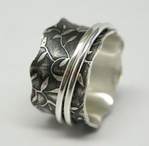 Handmade Sterling Silver Spinner Ring