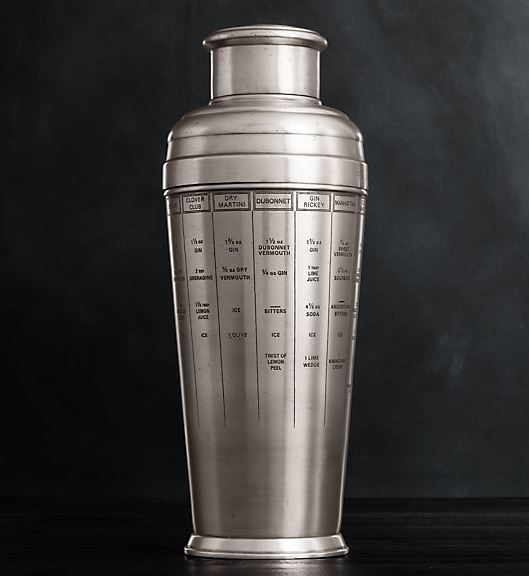 Vintage Recipe Cocktail Shaker