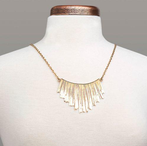 Bronze Fringe Necklace