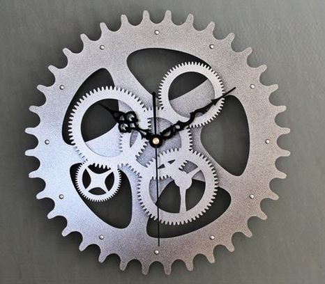Continental Retro Gear Wall Clock