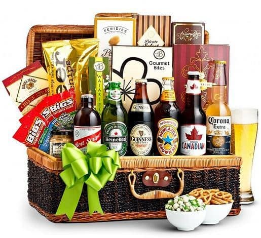 Craft Beer and Snacks Gift Basket