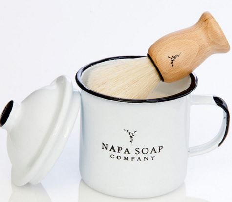 Eco-Friendly Napa Soap Enamel Shaving Gift Set