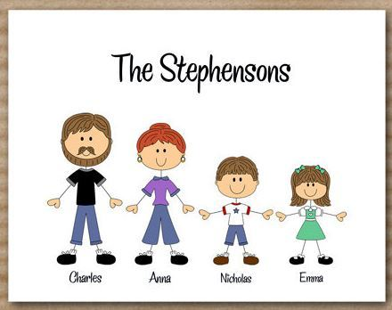 Family Personalized Note Cards