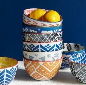 Folk Pad Printed Bowls