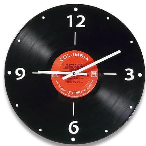 Recycled LP Record Clock