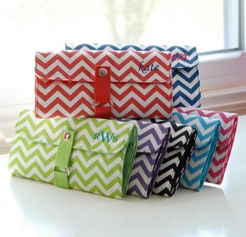 Personalized Chevron Makeup Roll