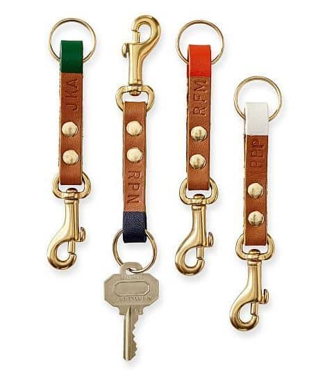 Personalized Union Leather Key Fob
