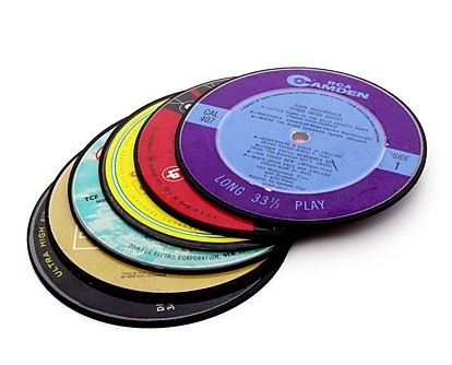 Recycled Record Coasters