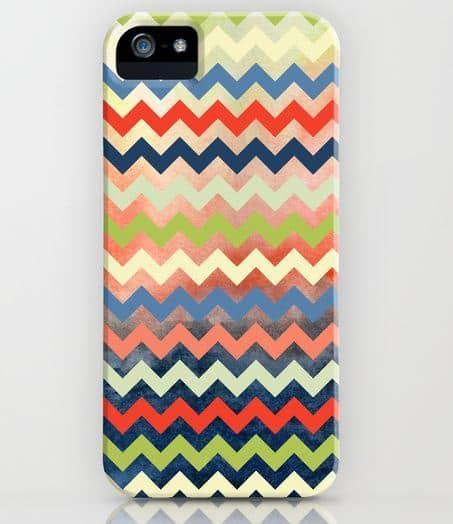 Slim Watercolor Chevron Phone Case