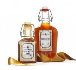 Verdant Kitchen Ginger Syrup and Ginger Infused Honey Gift Set