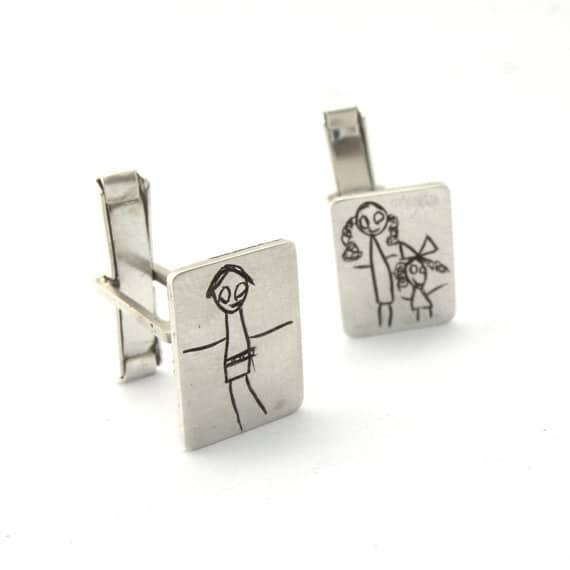 Custom Sterling Silver Cufflinks | Gifts For Guys