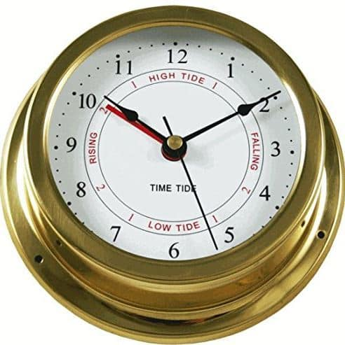 Brass Nautical Quartz Tide and Time Clock (on sale for $30)