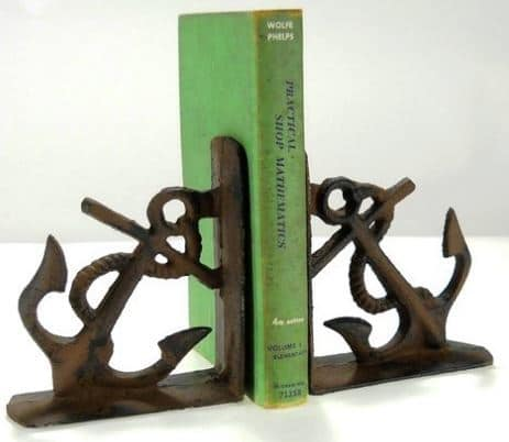 Cast Iron Anchor Bookends