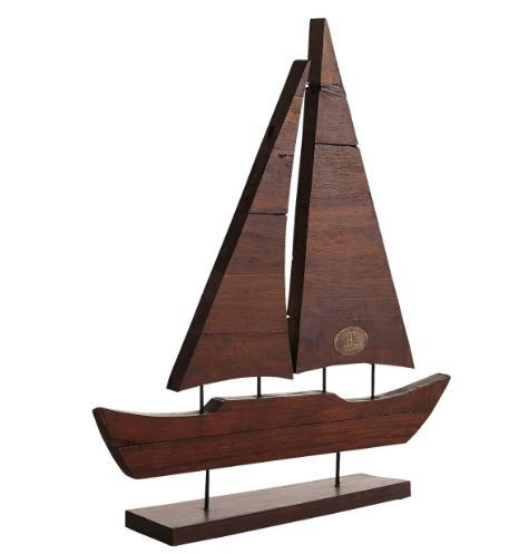 Reclaimed Ship Wood Sail Boat